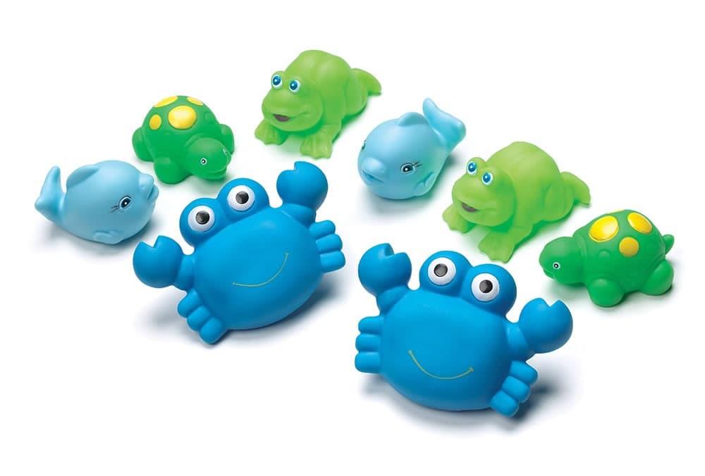 Playgro-Играчки за баня 8бр момче