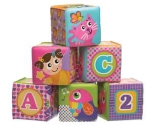 Playgro-Меки кубчета за игра розови