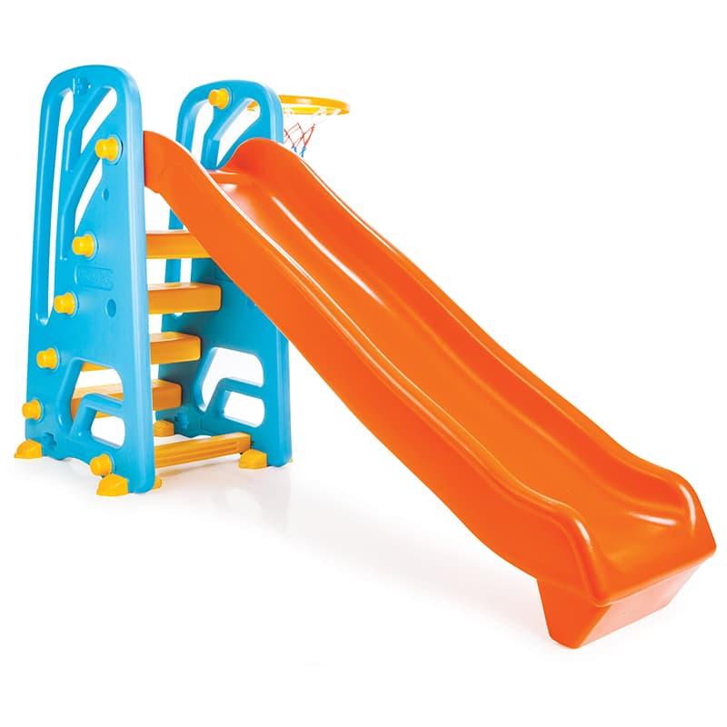Детска пързалка с баскетболен кош 06142