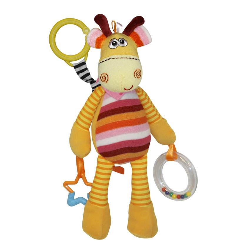 Lorelli-играчка с дрънкалка и гризалка Жираф