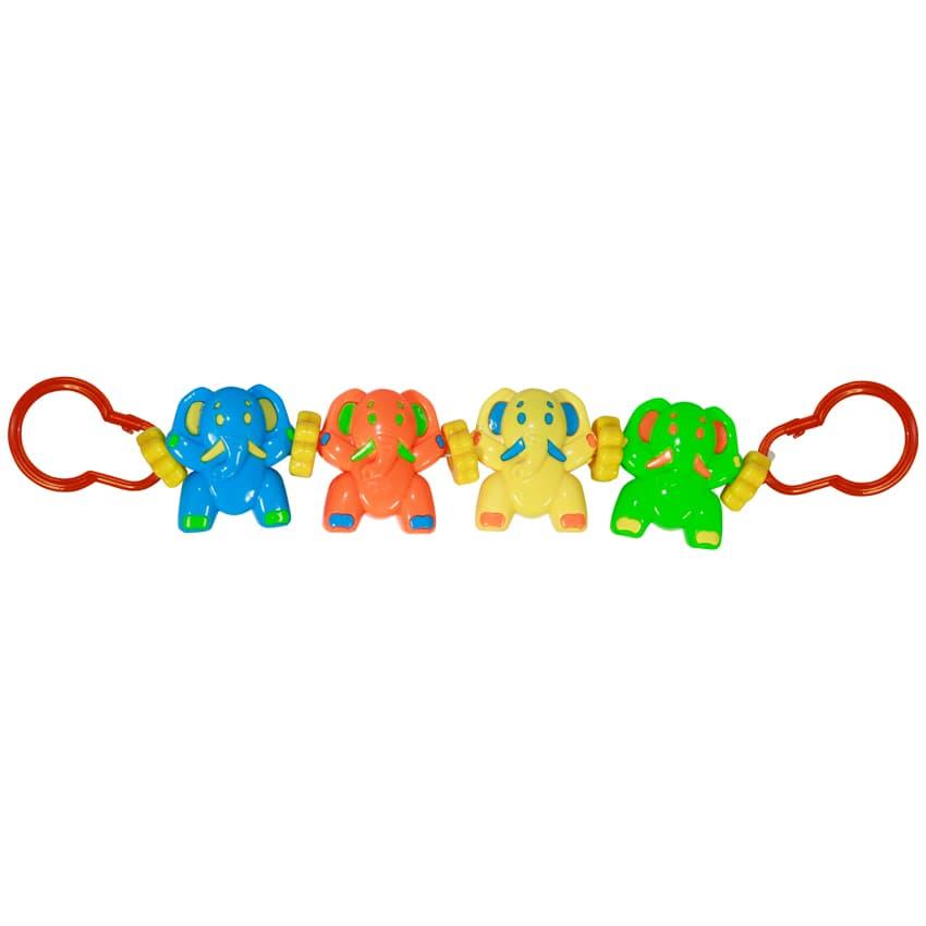 Lorelli-дрънкалка за количка Слончета
