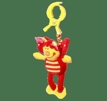 Играчка с пищялка с клипс Калинка