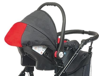 Детско столче за кола 0-9 кг Babyactive - Цвят: Червен