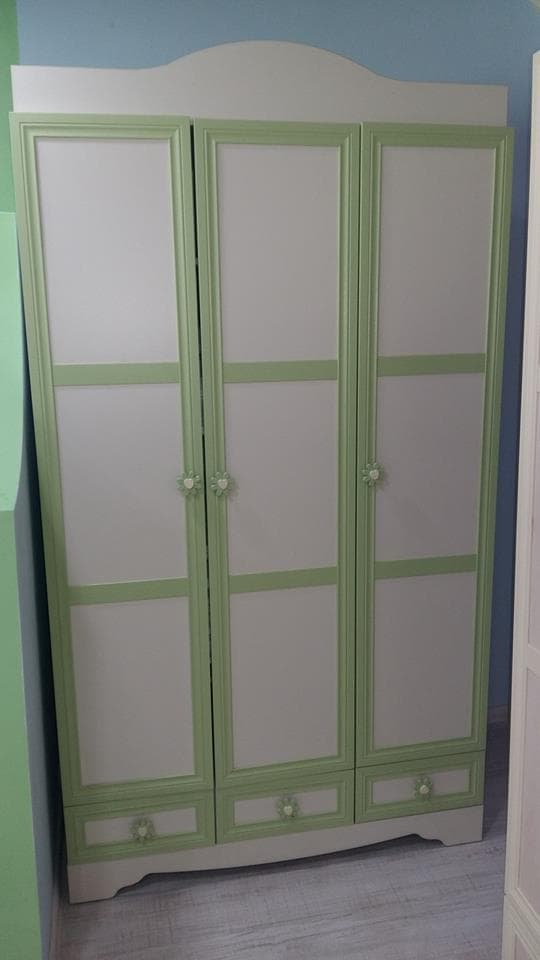 Детски гардероб Belis 3 крила Зелен