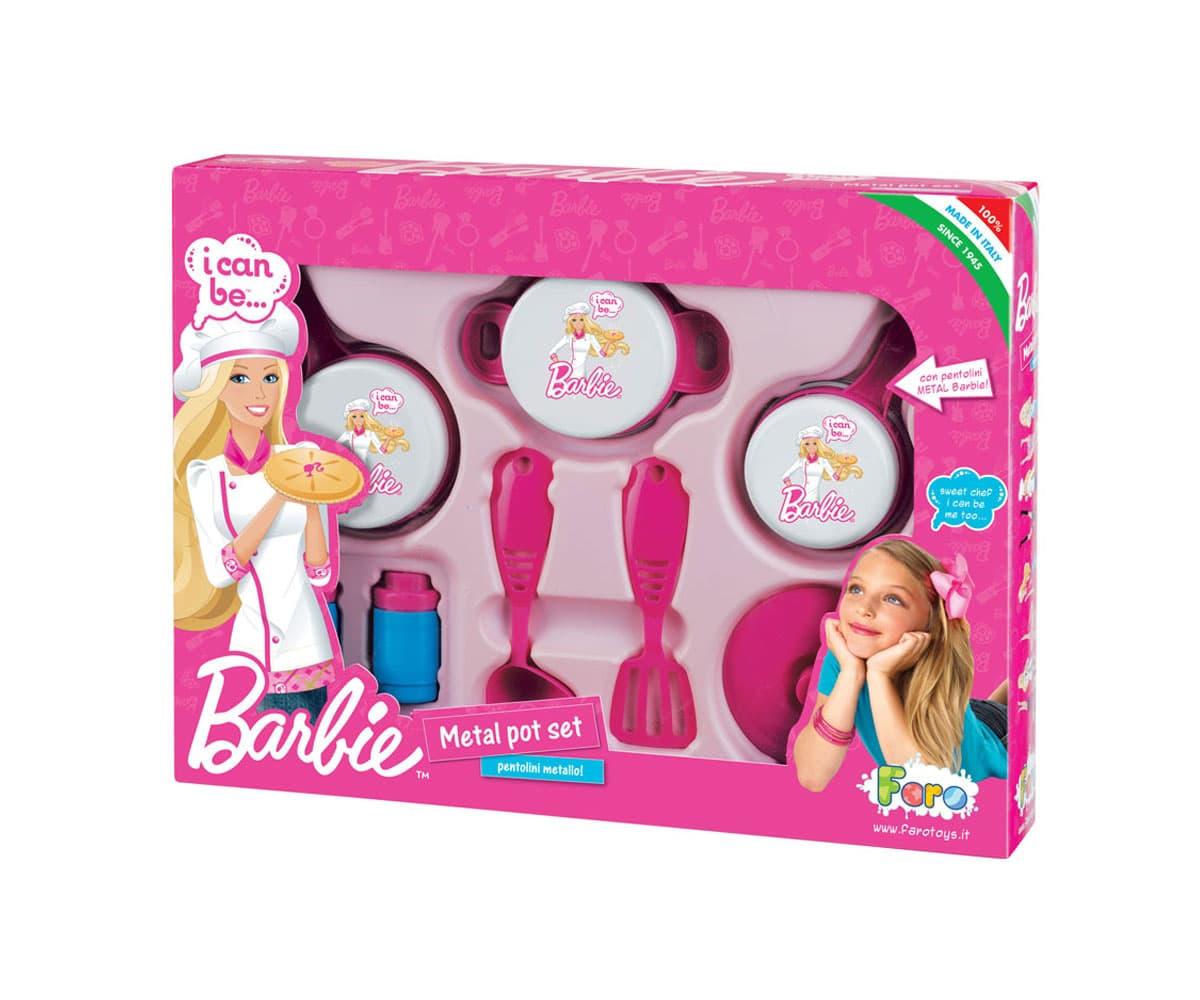 Комплект съдове за готвене Barbie