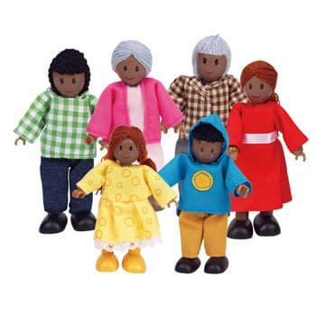 Hape-Дървени кукли семейство негри