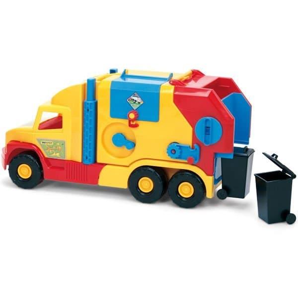 Боклукчийски камион с кофи за смет Wader