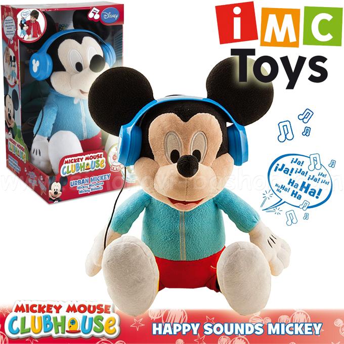 Дисни Мики Маус със слушалки за музика и танцуващ