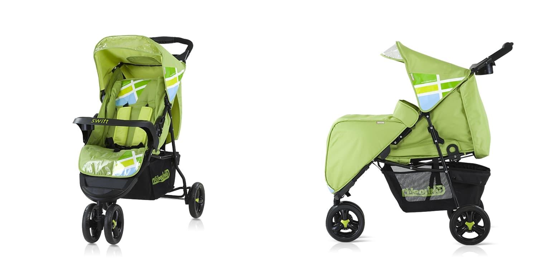 Лятна количка Суифт - Цвят: Зелен