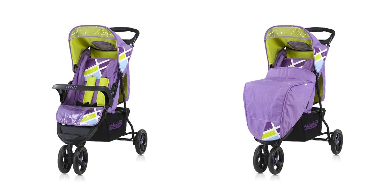 Лятна количка Суифт - Цвят: Лилав