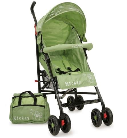 Лятна бебешка количка Mickey - Цвят: Зелен