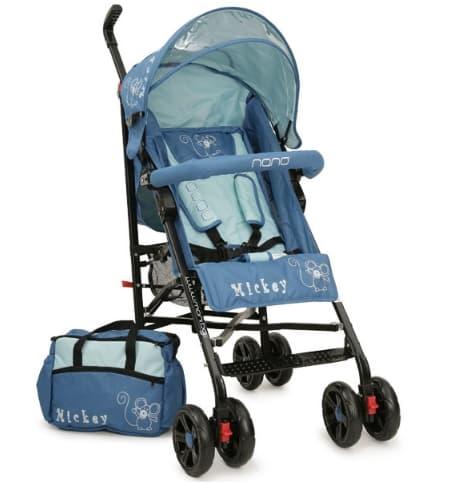 Лятна бебешка количка Mickey - Цвят: Син