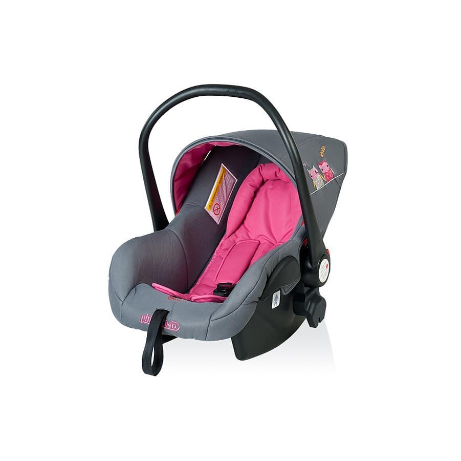 Детско столче за кола ПУКИ 2 - Цвят: Розов