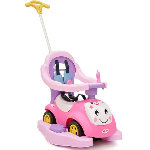 Детска кола за яздене Усмивка - Цвят: Розов