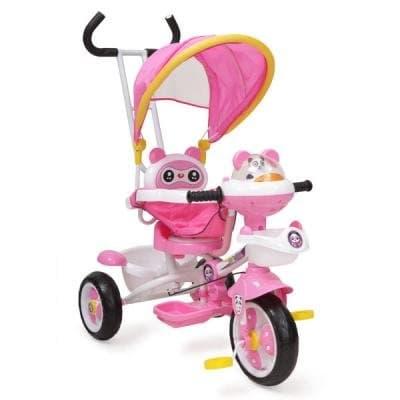 Детска триколка Панда - Цвят: Розов