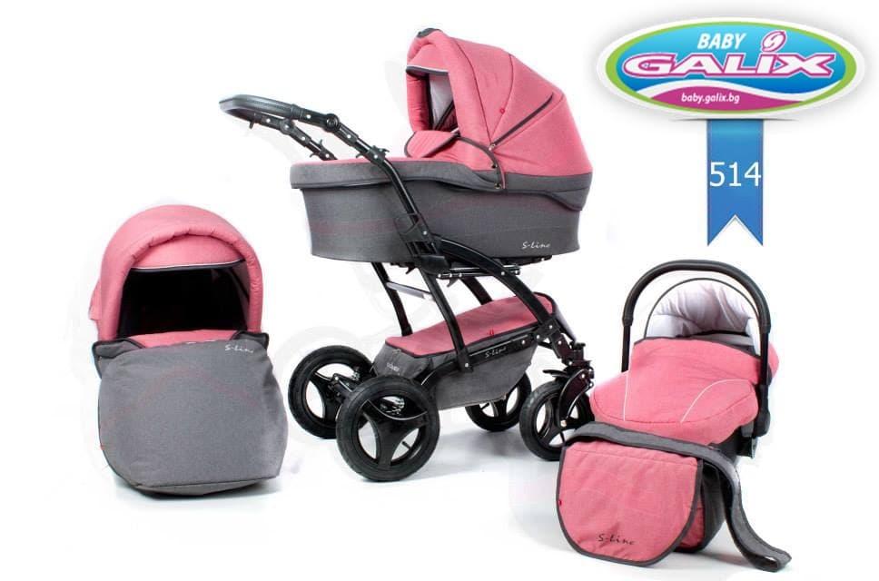 Бебешка комбинирана количка S-Line Denim