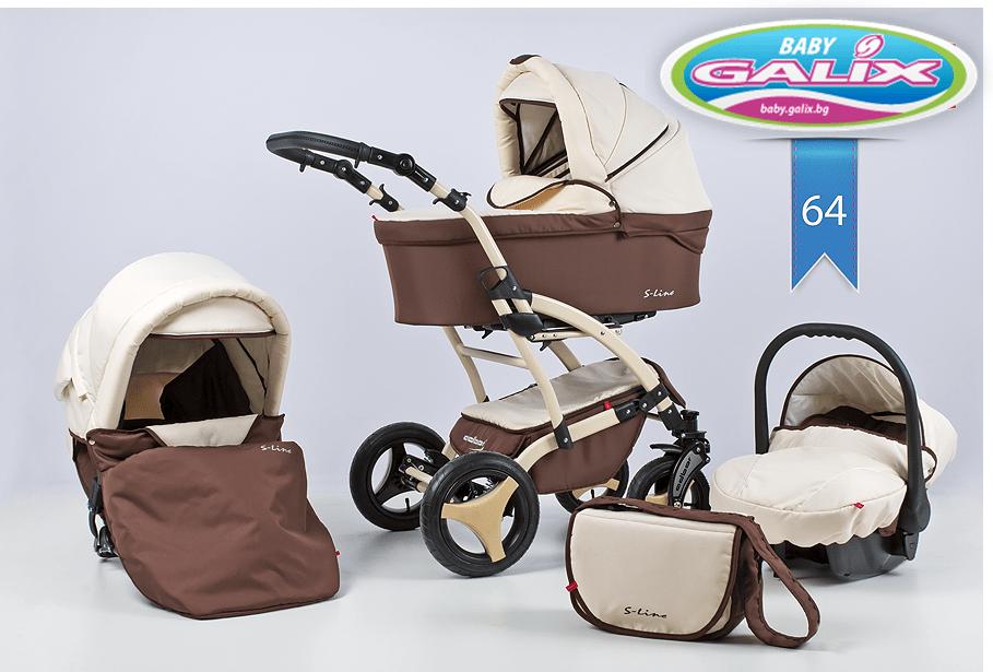 Бебешка количка 3в1 S-line цвят 64