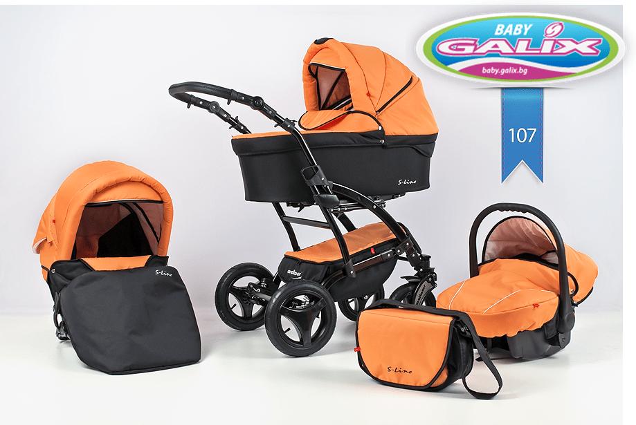 Бебешка количка 3в1 S-line цвят 107