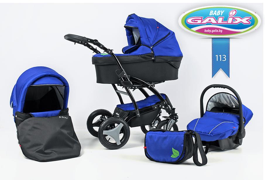 Бебешка количка 3в1 S-line цвят 113