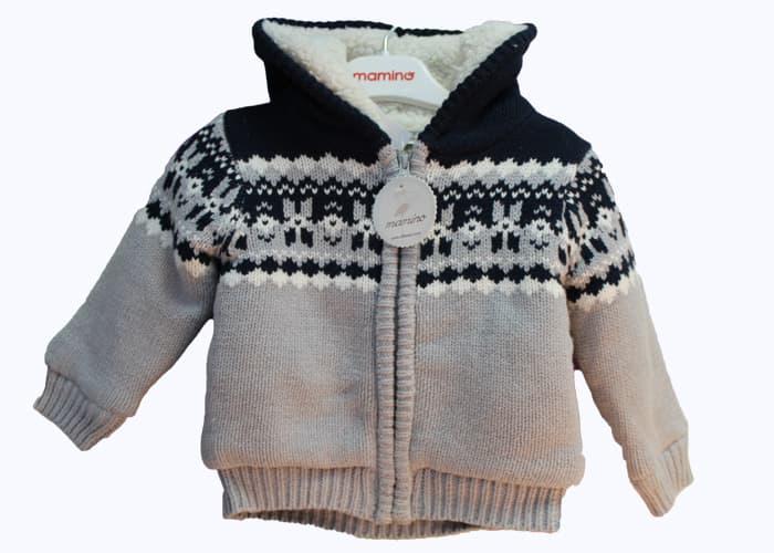 Детска плетена жилетка за момче Idilbaby снежинка