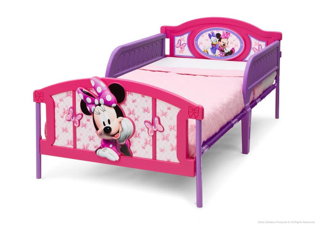 Детско легло Minnie Mouse с 3D изображение на таблата 100х190см