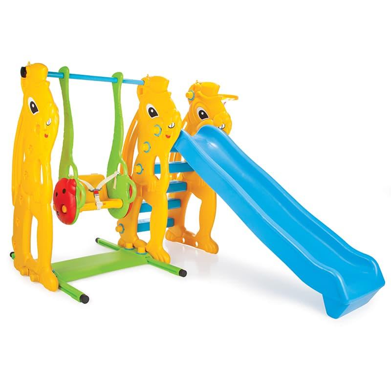 Пързалка с люлка и баскетболен кош 06140