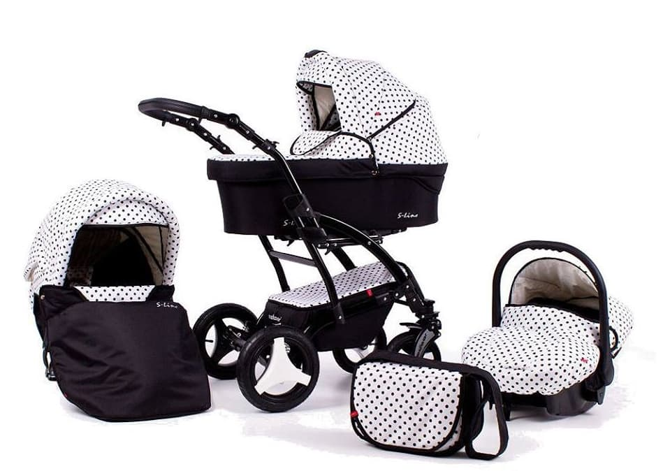 Бебешка количка 3в1 S-line Dots цвят K03