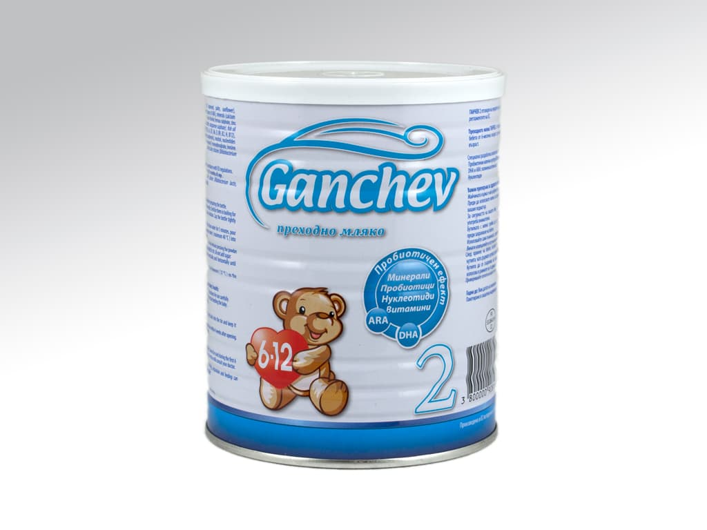 Ganchev2-Преходно мляко с пробиотик 6-12м 400гр
