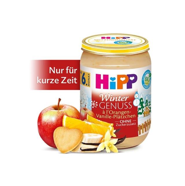 Hipp-Био пюре портокал с билки и ванилия 6м+ 190гр