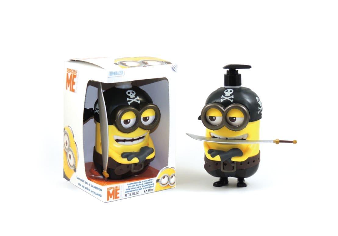 Шампоан и душ-гел в 3D фигура Minions Pirate 500ml