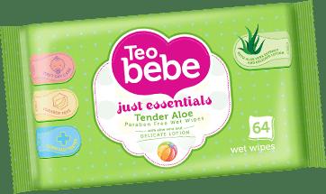 Teo bebe-мокри кърпи 64бр