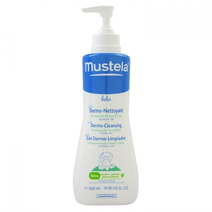 Mustela-Дермопочистващ гел за коса и тяло 500мл