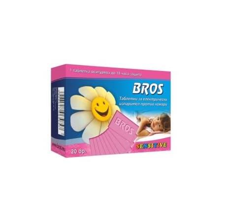 Bros-Таблетки за електрически изпарител против комари 20бр