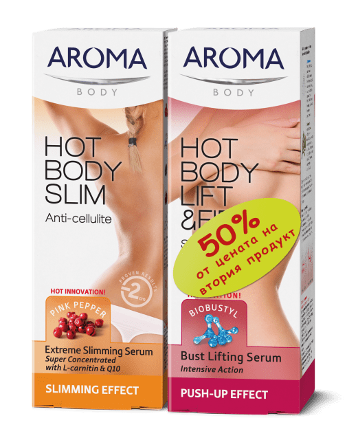 Aroma-Комплект антицелулитен серум и серум за оформяне на бюста
