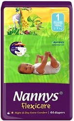 Nannys Flexicare Newborn mini 2-5кг 44бр