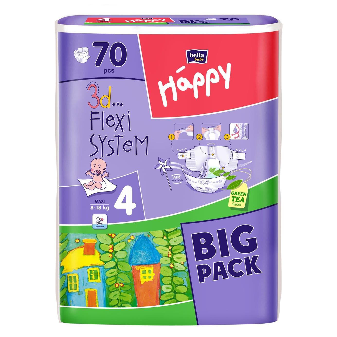 Happy Maxi 8-18кг 70бр