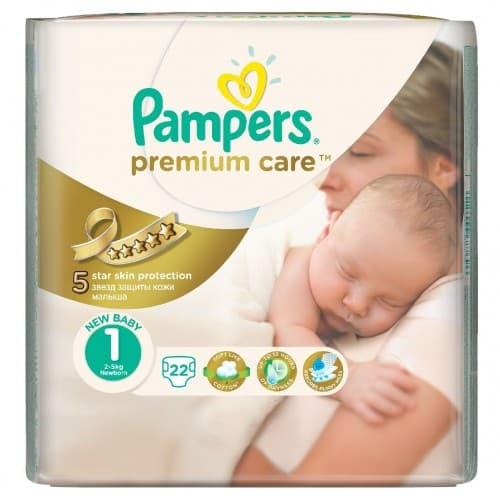 Pampers Premium care newborn1 2-5кг 22бр