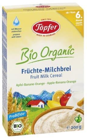 Lactana-Млечна Био каша с ябълка, банан и портокал 6м+ 200гр