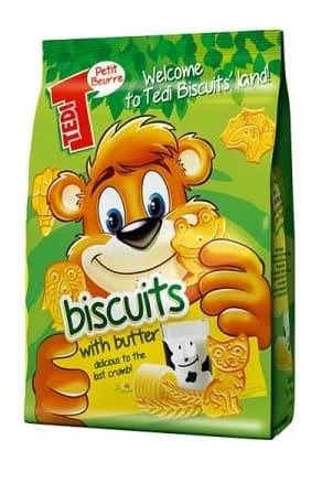 Бисквити Tedi с масло 100гр