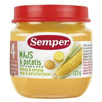 Semper-Пюре царевица с картофи 4м+ 125гр