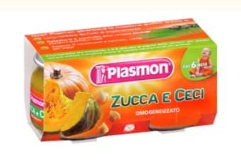 Plasmon-Пюре тиква и нахут 2х80гр 6м+