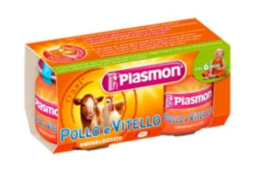 Plasmon-Пюре пилешко и телешко месо 2х80гр 6м+