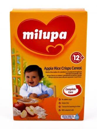 Milupa-Млечна каша ябълка оризови стърготини 12м+ 250гр