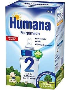 Humana2-адаптирано мляко 6-12м 600гр