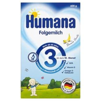 Humana3-преходно мляко над 10м 600гр