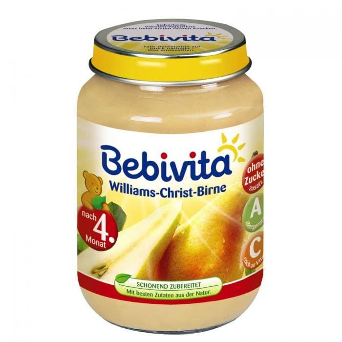Bebevita-пюре от круши Уилямс Крист 4м+ 190гр