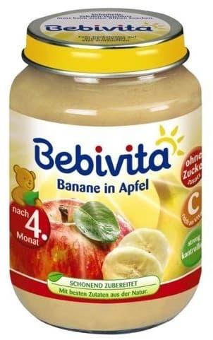 Bebevita-пюре ябълка и банан 4м+ 190гр