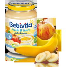 Bebevita-плодов дует с ябълки банан и извара 7м+ 190гр
