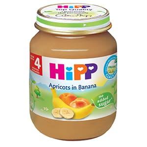Hipp-пюре с кайсии и банани 4м+ 125гр