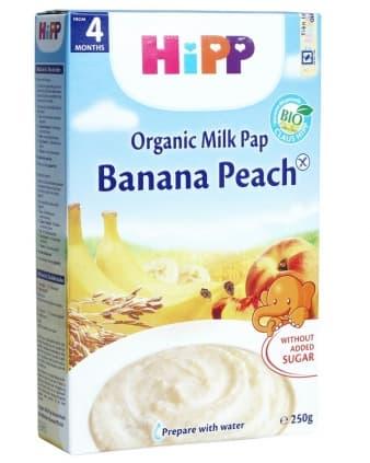 Hipp-Млечна каша банан и праскова 4м+250гр